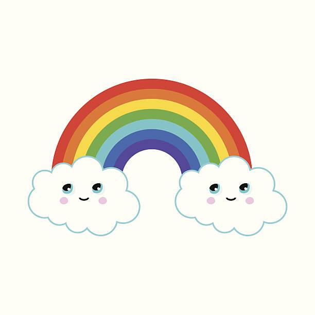 Rainbow Clouds Cartoons Clip Art, Vector Images & Illustrations.