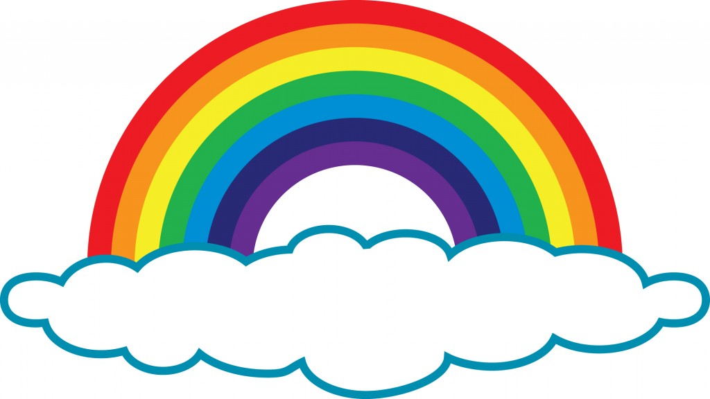 Clipart Rainbow With Clouds.