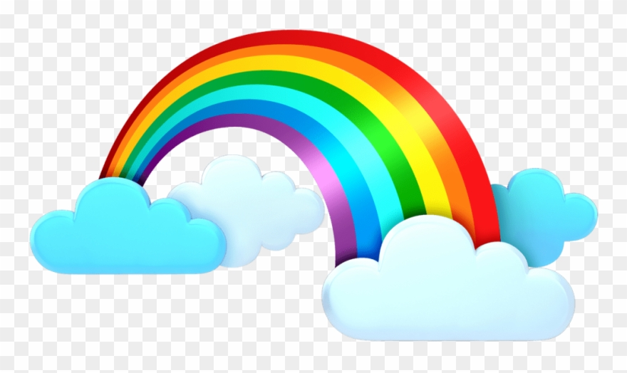 Rainbow Cloud Png Clip Art Transparent Png (#1021884.
