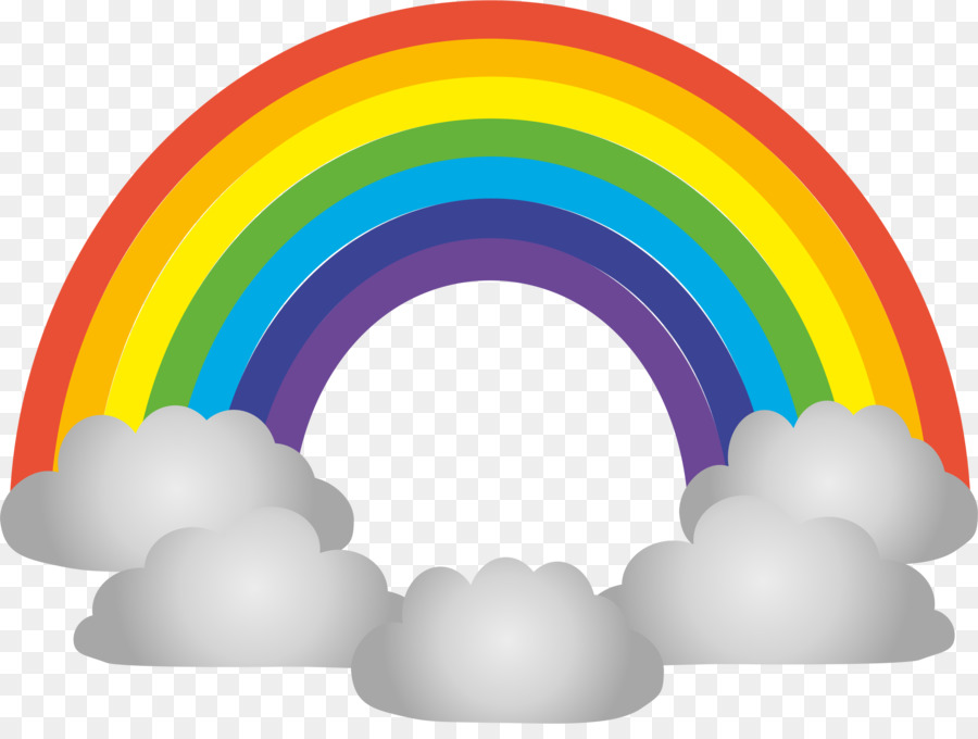 Rainbow Circle clipart.
