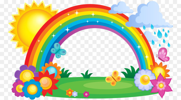 Rainbow Cloud Clip art.
