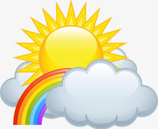 Rainbow Clouds And Sun PNG, Clipart, Cartoon, Cartoon Clouds.