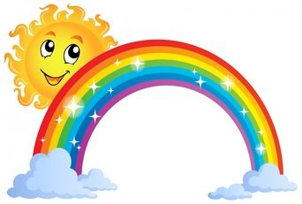 Sunshine And Rainbow Clipart #1.