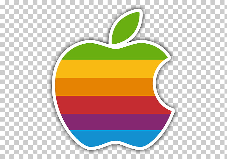 Apple II Logo Color Rainbow, Sticker, Apple logo PNG clipart.