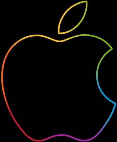 Rainbow apple logo : sequence.