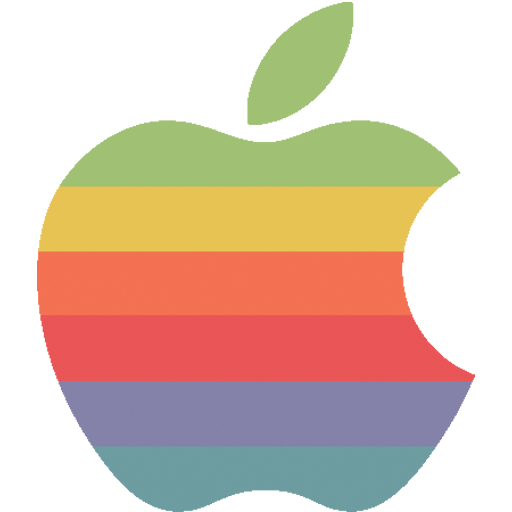 Rainbow apple logo Icon.