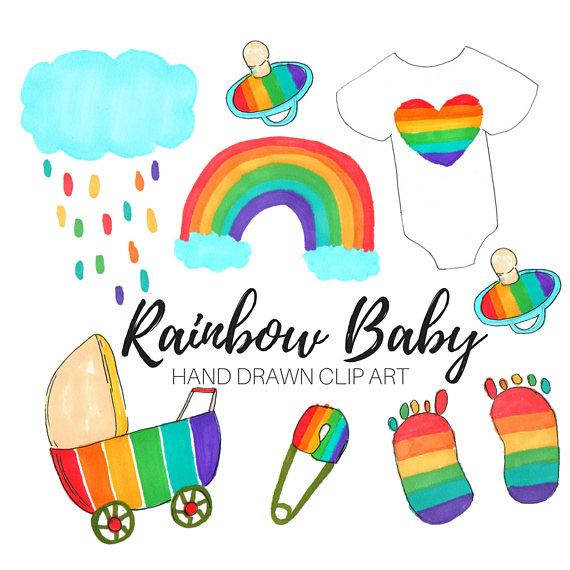 Rainbow Baby Clipart.