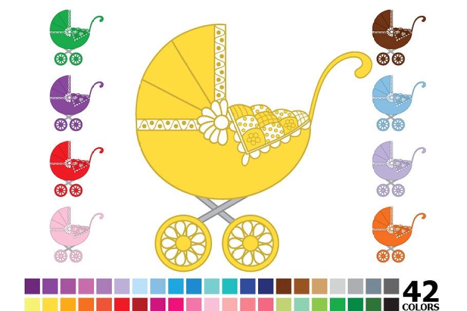 Rainbow Baby Stroller.