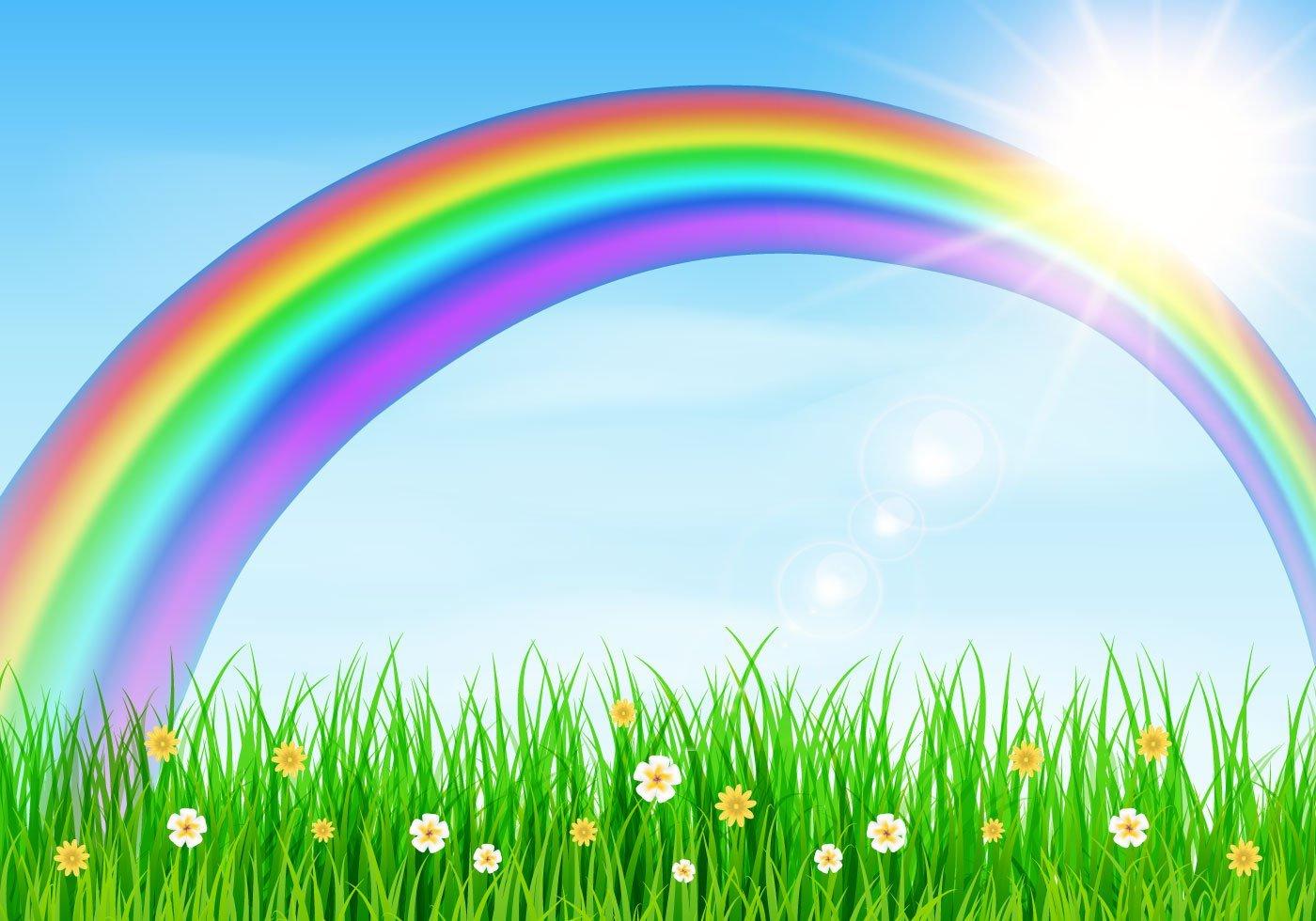 Rainbow background clipart 8 » Clipart Portal.