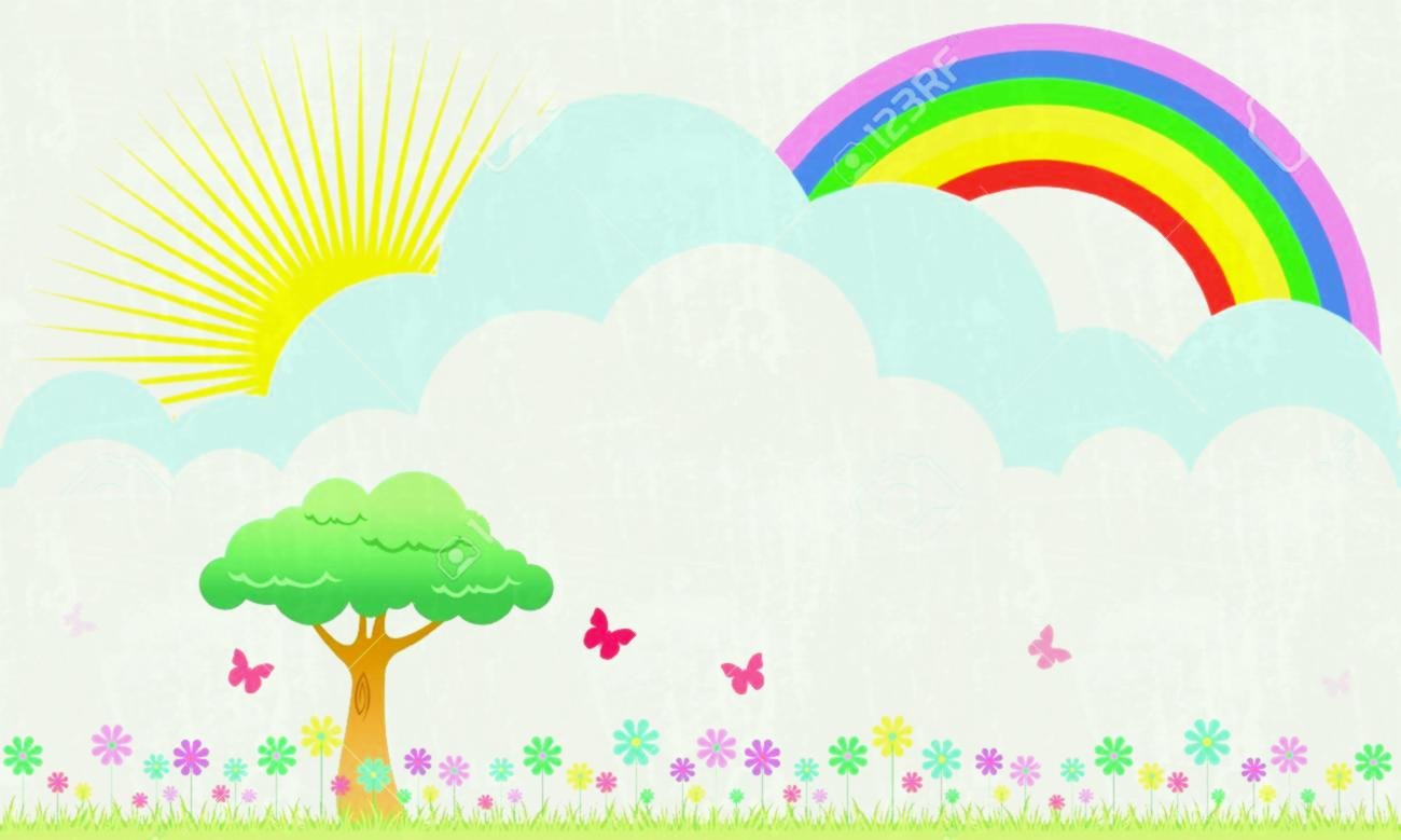 Rainbow background clipart 2 » Clipart Station.