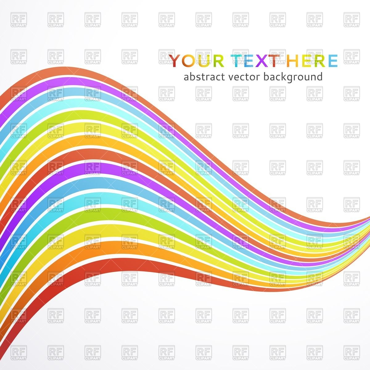 Abstract background/banner with wave of rainbow Vector Image.