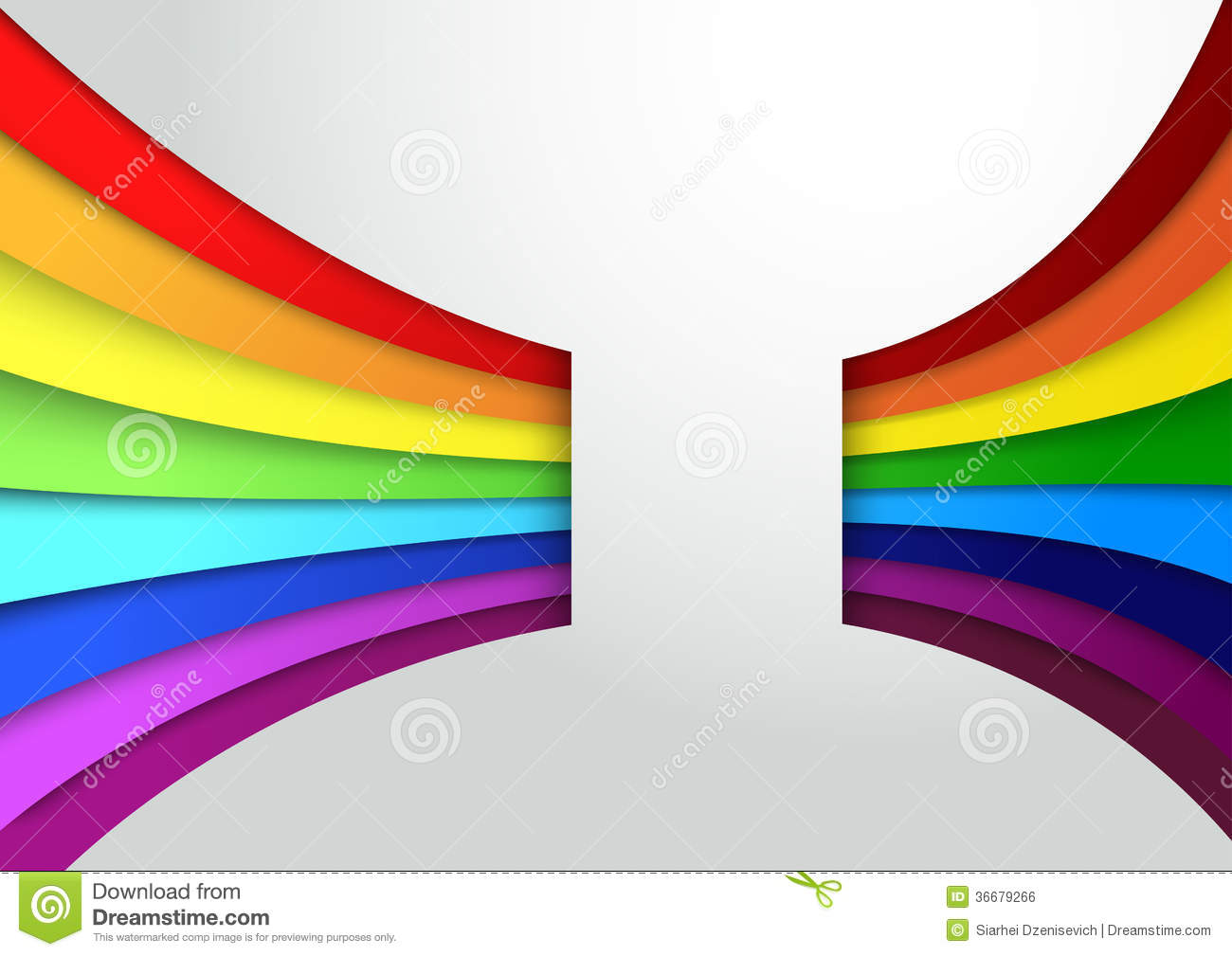 Colorful Rainbow Banner Template Royalty Free Stock Image.