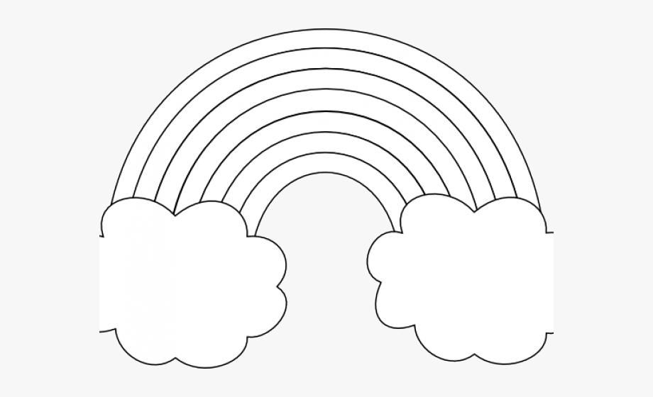 Black And White Rainbow Clipart.