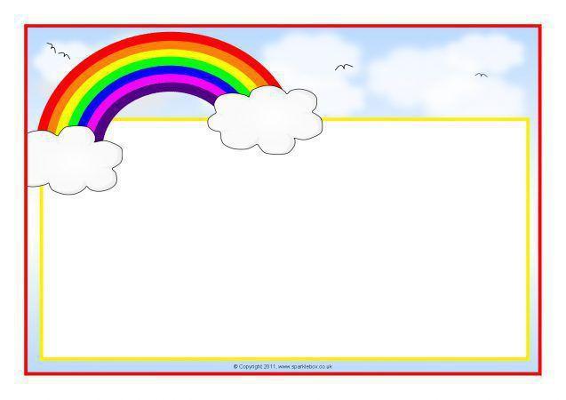 Rainbow Border Clipart 8.