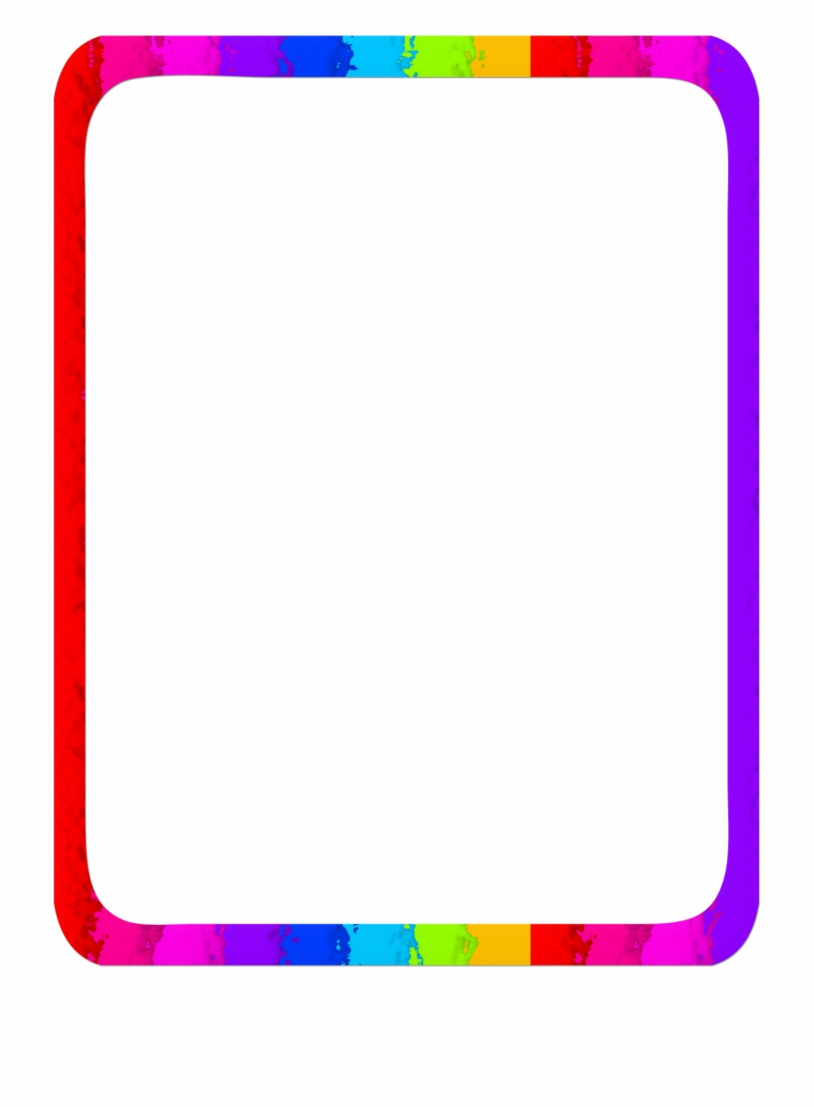 Rainbow Border Free PNG Images & Clipart Download #2575877.