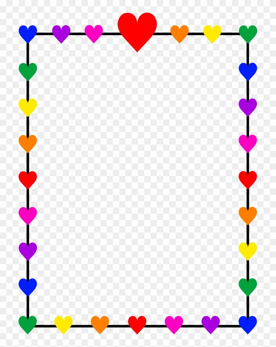 Holly Clipart Border Rainbow.