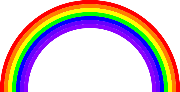 Rainbow bridge clipart.