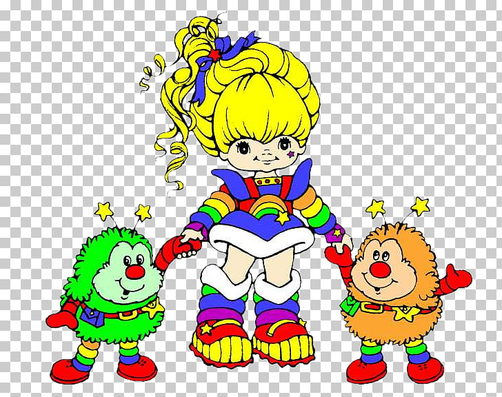 Rainbow Elena Gilbert Cartoon , Rainbow brite PNG clipart.