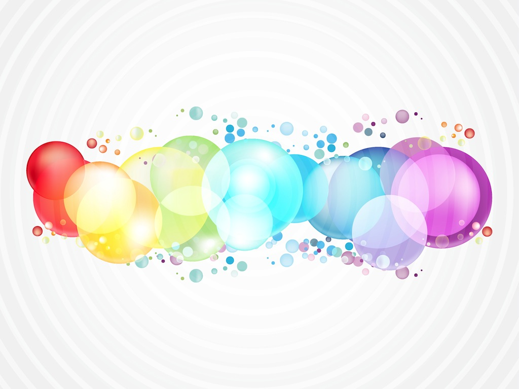 Rainbow Color Bubbles Vector Art & Graphics.