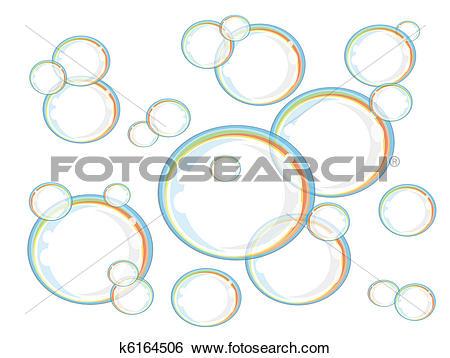 Clip Art of Rainbow soap bubbles,vector k6164506.