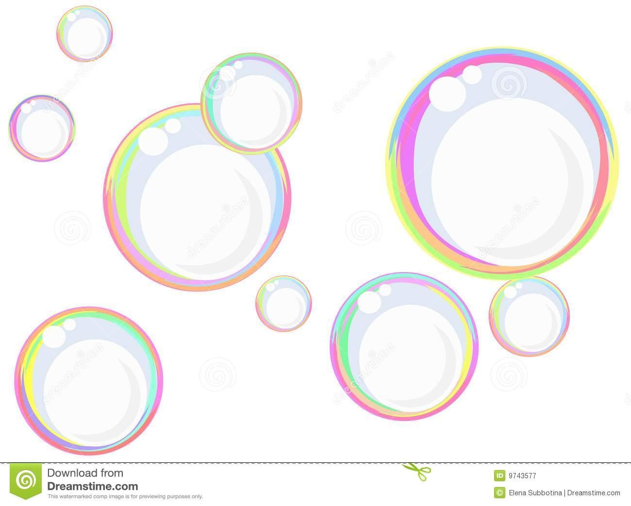 Rainbow Soap Bubbles Royalty Free Stock Photography.