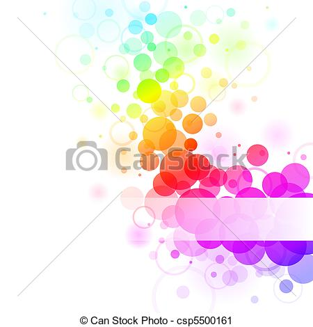 Clipart of rainbow bubbles.
