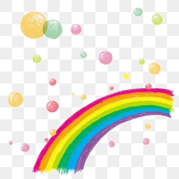 Rainbow Bubble PNG Images.