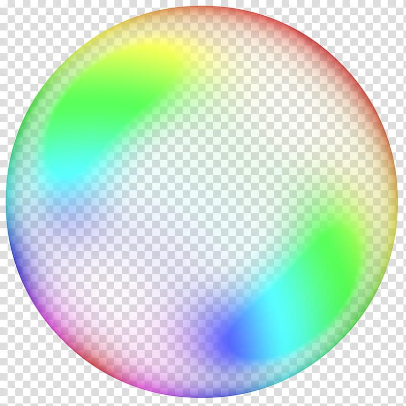 Colorful bubbles, rainbow bubble transparent background PNG.