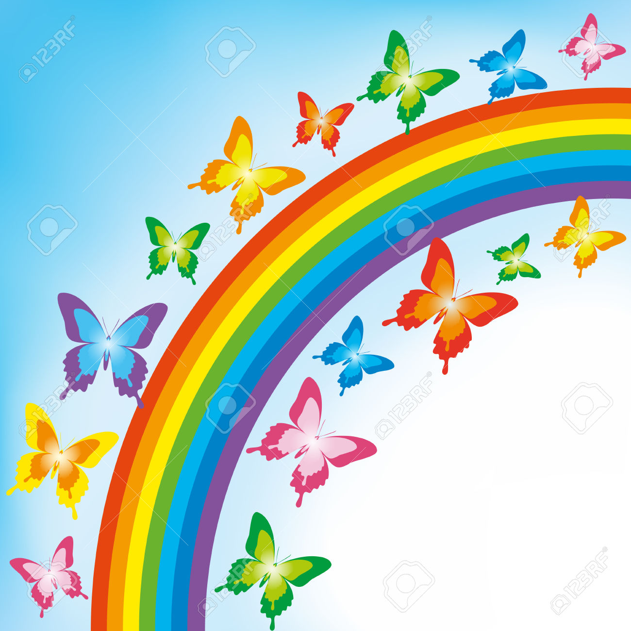 4,263 Rainbow Butterfly Stock Illustrations, Cliparts And Royalty.