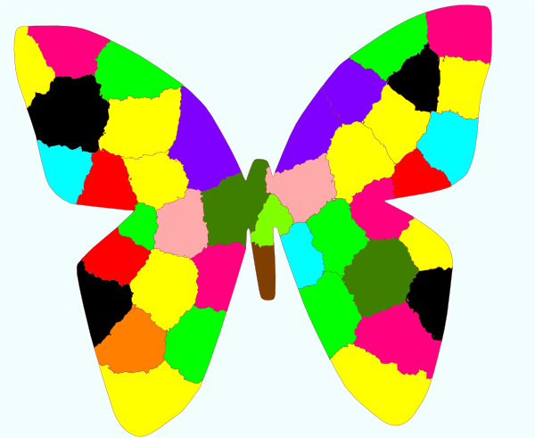 Rainbow Butterfly Clip Art at Clker.com.