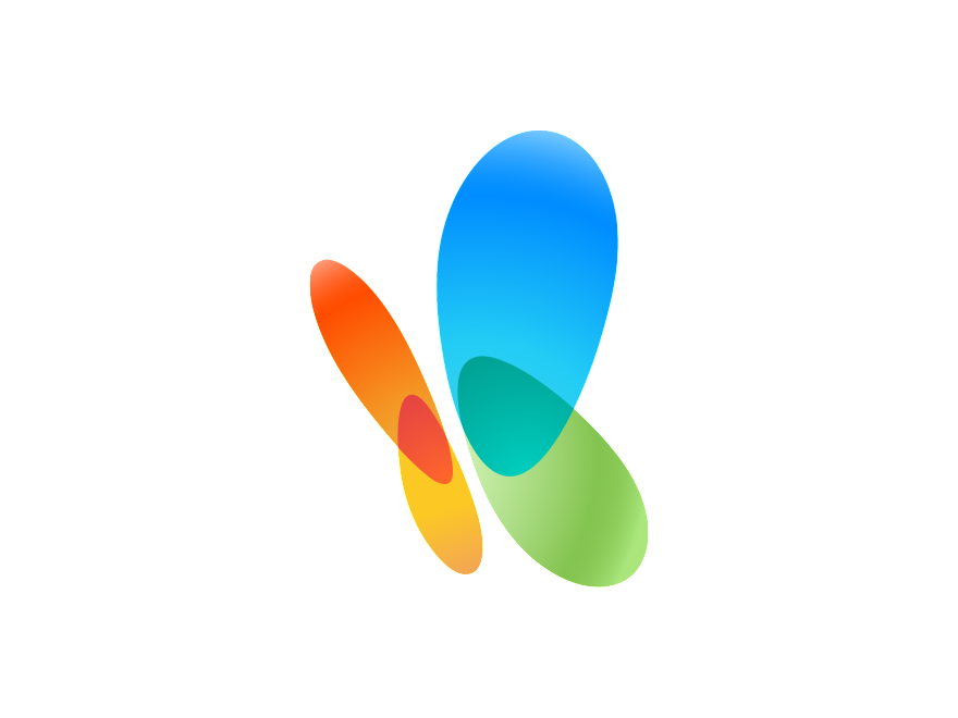 Colorful butterfly Logos.