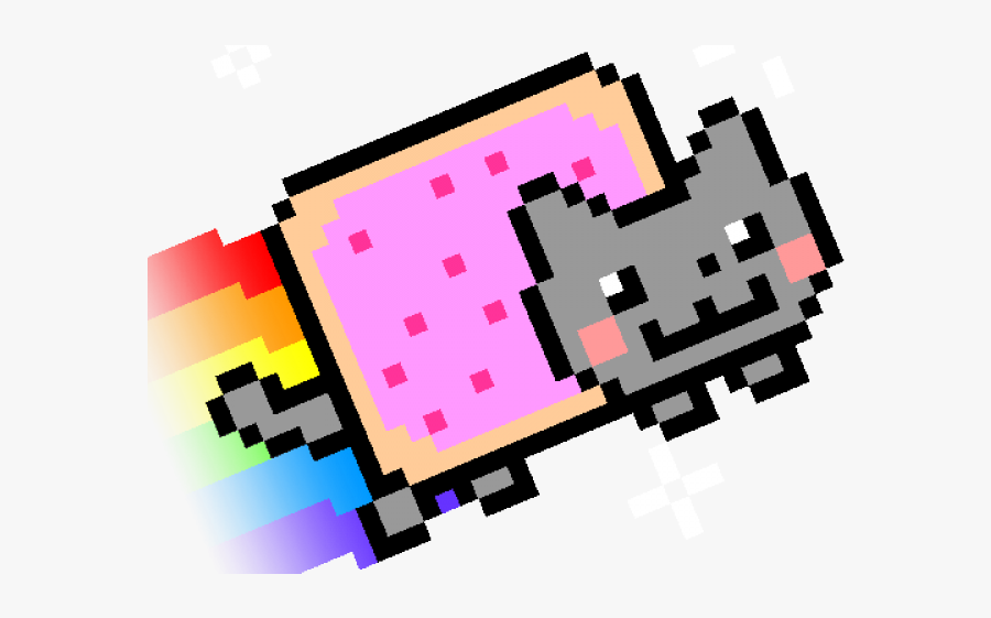 Nyan Cat Clipart Rainbow Cat.
