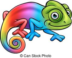 Rainbow chameleon Clip Art Vector and Illustration. 68 Rainbow.