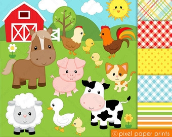 Animal Farm Childrens Clipart.