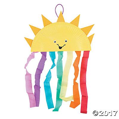 Plate Sun & Rainbow Craft Kit.