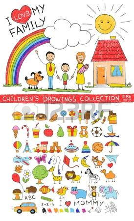 Rainbow Childrens Animal Clipart.