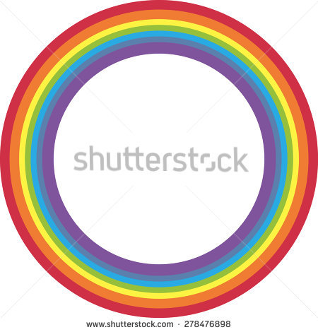 Rainbow Circle Stock Images, Royalty.