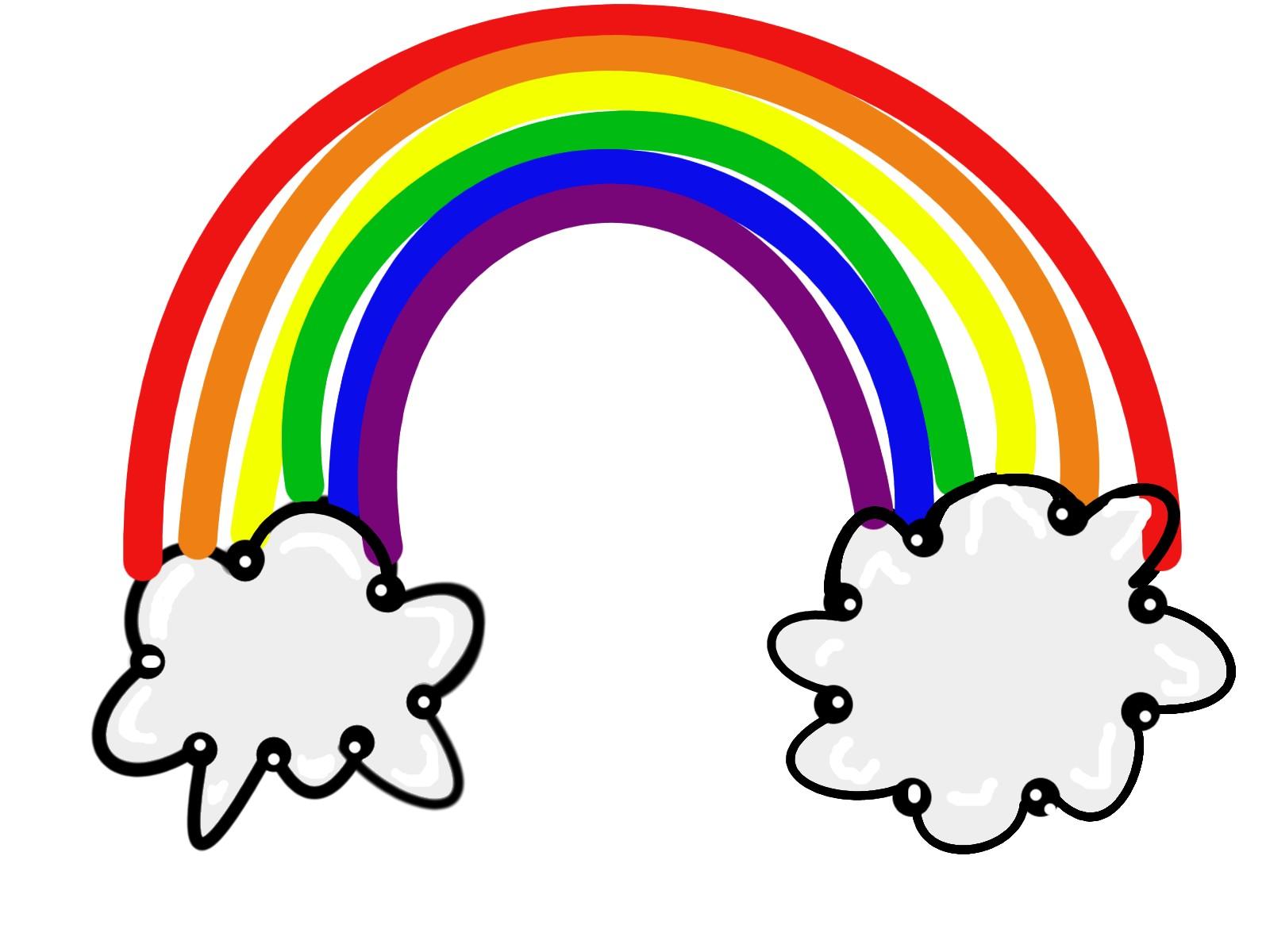 rainbows clipart clipground