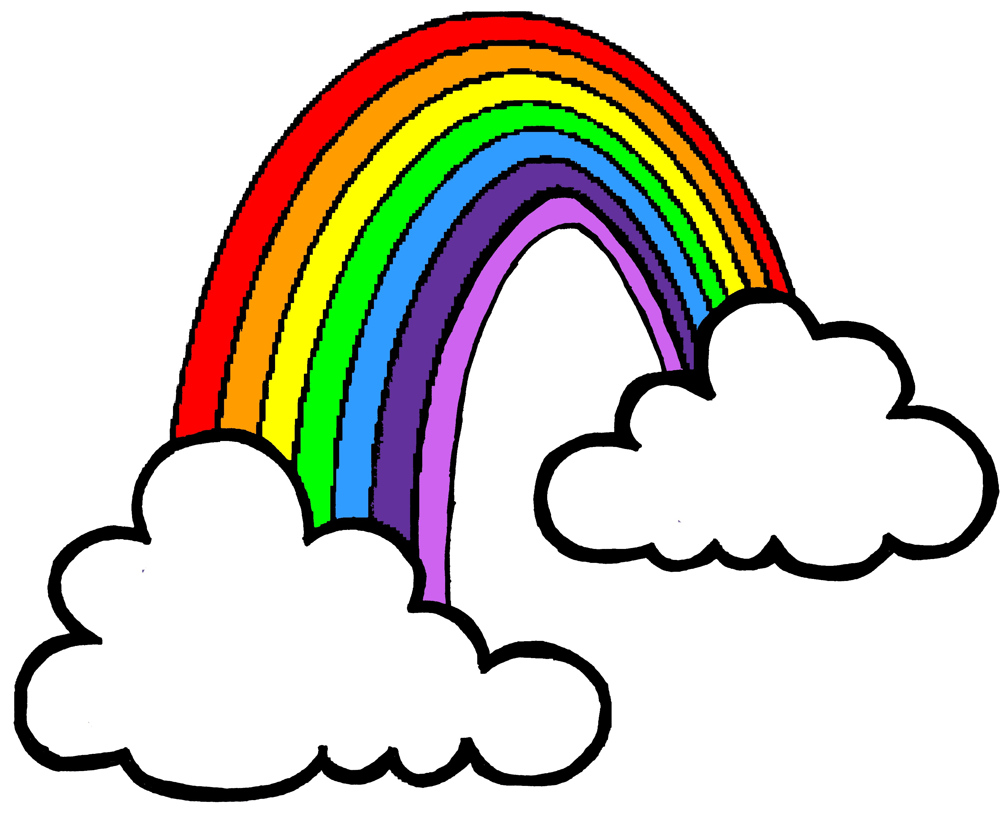 Free Rainbow Clip Art Pictures.