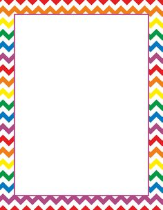 Rainbow page border. Free downloads at http://pageborders.org.
