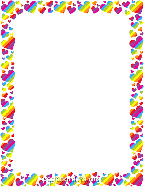 Rainbow Heart Border.