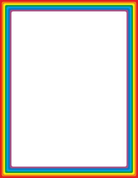 Rainbow Border Clipart.