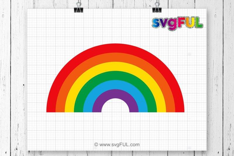 Free Rainbow svg, Rainbow cut file, Rainbow with magic svg.