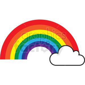 rainbow cut file clipart. Royalty.