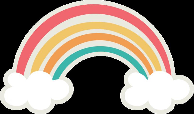 Rainbow Cute Clipart, Silhouette Files, Svg File, Rainbows.