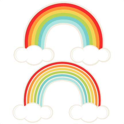 Rainbows SVG cutting file for scrapbooking cute cut files.