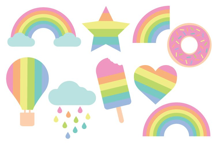Pastel Rainbow Clipart Png.