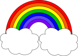 Free rainbow clip art pictures 4.