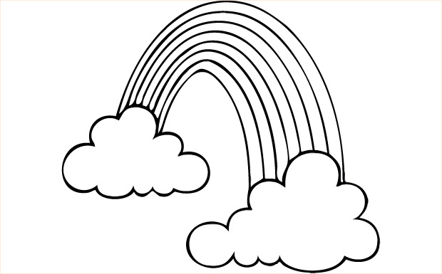 Rainbow clipart black and white free images.