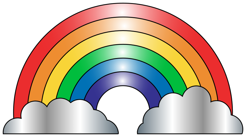 Rainbow clip art free clipart images famclipart.